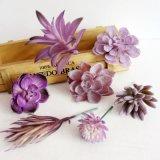 Magic Roxo Cabeça de flores artificiais Decoração