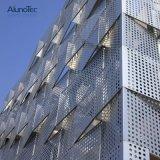 Panneau de paroi perforée en aluminium personnalisé
