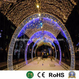 Decorativo exterior comercial arco gigante de la luz de Navidad