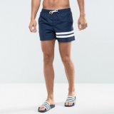Shorts della scheda di nuoto della vita del Drawstring degli uomini con le bande