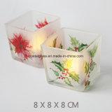Form Soem-Drucken-überzogenes Glas-Kerze-Glas