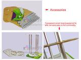 étalage rond en aluminium de compteur de pipe d'étagère acrylique de tissu d'extension de Teindre-sublimation
