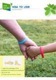 Bracelet rougeoyant de produit répulsif de moustique de silicones