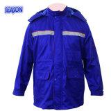Одежды работы Workwear куртки зимы цвета королевской сини проложенные пальто с отражательной полосой