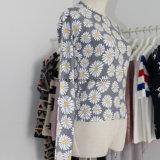 귀여운 데이지 인쇄 패턴을%s 가진 정밀한 계기 숙녀의 스웨터