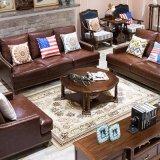 Журнальный стол американского типа деревянный круглый для домашней мебели (AS838)