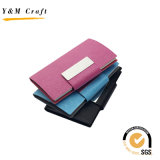 Custom Blank PU Leather ID d'entreprise Credit Name Card Holder