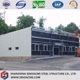 Sinoacmeは軽い鉄骨フレームの小売店を組立て式に作った