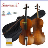 4/4 violoncelle fabriqué à la main de Chello avec le sac de violoncelle