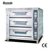 Gas-Plattform-Ofen-Lebesmittelanschaffung-Küche-Maschinen-Bäckerei-Gerät für das Glühen mit 3deck 9trays