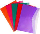 La fourniture de bureau carde le double sac coloré de fichier de couleur