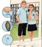 Uniforme escolar primario de la camiseta del polo para el verano