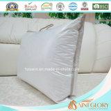 Белое перо утки гусыни вниз заполняя подушку шеи