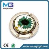 Gancho de leva plegable de la percha del bolso del metal de la dimensión de una variable redonda de la manera del Fob Guangzhou