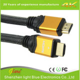 Cubierta de nylon Doble blindaje HDMI a cable HDMI