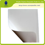 Revestido de PVC Tarp 850gsm encerado laminado branco