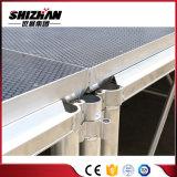 Estágio móvel de alumínio ao ar livre portátil popular