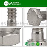 Noix d'acier inoxydable de solides solubles A2 A4 et boulon DIN931 d'hexagone