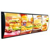 LED 메뉴 사슬 대중음식점을%s 호리호리한 가벼운 상자 표시판