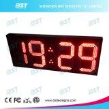 온도 전시를 가진 큰 옥외 방수 LED 시계 전시 표시