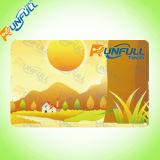 Cartão impresso de plástico para presente, promoção, negócios, cumprimento usando