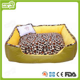 Weiches bequemes gedrucktes Leopard-Haustier-Bett