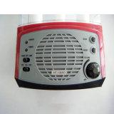 Lanterna de camping portátil com função de rádio