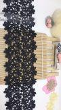 Merletto chimico di nylon di immaginazione della guarnizione del ricamo del poliestere del merletto della fabbrica delle azione del commercio all'ingrosso 13cm del ricamo caldo di larghezza per l'accessorio degli indumenti & tessile & tende domestiche