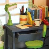 Kid juguete de madera bricolaje casa de muñecas con muebles