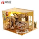 Drôle de petit bricolage jouet en bois Assemblling Maison de poupée