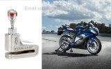 Astraのターミナルのバイク(銀)を競争させるオートバイのモーターバイクの安全スポーツのための反盗人の音の機密保護アラーム電子ディスクブレーキロック6mm Pin