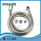 Двойной замок полированным Ss душ шланг ПВХ внутреннюю трубку (HY6018 активного оконечного устройства)