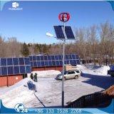 Éclairage routier solaire d'axe de générateur du vent simple vertical DEL de lampe