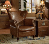 Poltrona Home de couro moderna americana da mobília