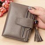 주식 Emg5114에 있는 술 프린지를 가진 아주 새로운 Deisgn 연약한 가죽 지갑 클러치 여자 지갑