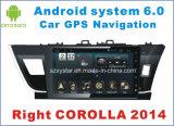 車の運行の右のCorolla 2014年のための新しいUiのアンドロイド6.0車DVD