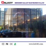 Publicidad de la visualización de LED transparente para la instalación de la ventana del edificio