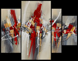 Acrylique Abstract Group Oil Painting Wall Art