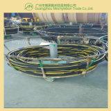 Fil d'acier recouvert de caoutchouc renforcé par une tresse le flexible hydraulique (SAE100 R1-3/4)