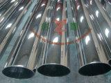 Tubo de acero inoxidable pulido espejo con forma oval