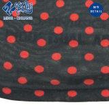灰色赤い立場カラーボタンのレースの細い方法女性ブラウス