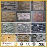 까맣거나 회색 또는 녹색 또는 파란 자연적인 슬레이트 또는 화강암 또는 석영 벽 클래딩 문화 돌