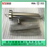 25.4mm Ss304 Abrazadera Sanitaria Filtro Filtro Angular con Pantalla Perforada