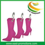 Promocional hueco zapatos de tacón alto en forma de fieltro llavero