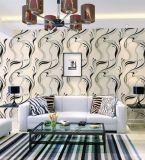 Ventas al por mayor modernas decorativas del papel pintado de la pared interior de la sala de estar de China para los hoteles