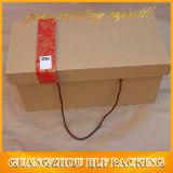 Brown Kraft cartón cajas de regalo para la pantalla (BLF-PB054)
