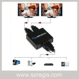 Mini Puerto 1X2 3D de HDTV 1080p HDMI Video Splitter