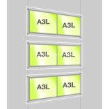 LED 케이블 거는 Windows 전시를 위한 가벼운 위원회 포켓 전시