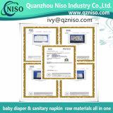 Nonwoven hydrophile de solides solubles Spunbond pour les matières premières de Topsheet de couche-culotte de bébé
