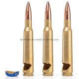 De Oro de metal personalizados de forma de bala calibre 50 Abrebotellas
